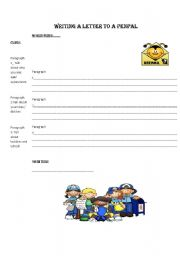 English Worksheet: WRITING A LETTER TO A PENPAL