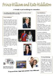 English Worksheet: Prince William and Kate Middleton wedding ( 5/6 )