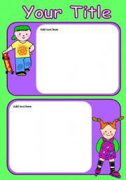 English worksheet: Active Kids
