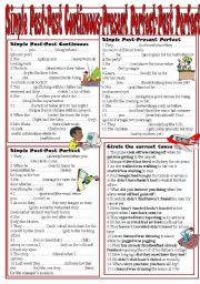 English Worksheet: Tense Revision:Simple Past-Past Continuous-Present Perfect Simple-Past Perfect Simple