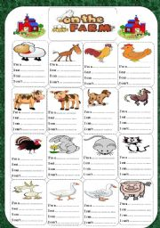English Worksheet: on the farm