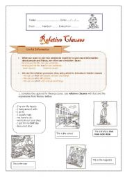 relative clauses worksheet by melanie teixeira. Black Bedroom Furniture Sets. Home Design Ideas