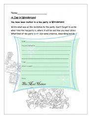 English Worksheets: Writing Invitations