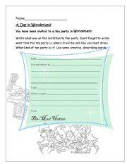 English Worksheet: Writing Invitations