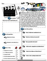 English Worksheet: RC Series_U.S Edition_14 Hollywood (Fully Editable)
