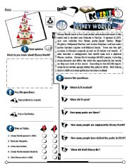 English Worksheets: RC Series_U.S Edition_13 Disney World (Fully Editable)