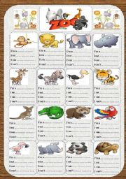 English worksheets: zoo worksheets, page 6