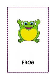 English Worksheets: Animal flashcards.14 flashcards. fully editable