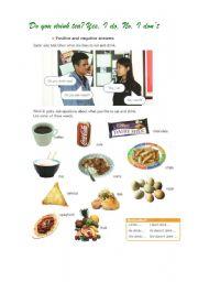 English Worksheet: Do you drink tea? Yes, I do. No, I don�t