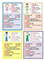 English Worksheet: SPEAKING CARDS  2 PART