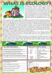 Printables Ecology Worksheets english teaching worksheets ecology what is ecology