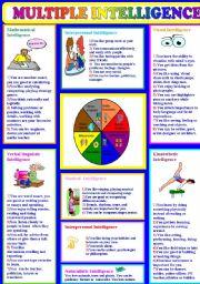 English Worksheet: multiple intelligences