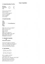 English Worksheets: types of question