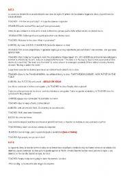 English Worksheets: short play