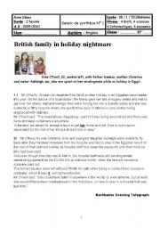 English Worksheets: A holiday nightmare