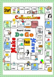 English Worksheet: BOARDGAME