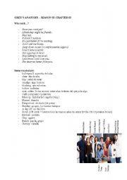 English Worksheet: GREY´S ANATOMY SEASON02_CHAPTER03