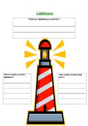 English Worksheets: lighthouses