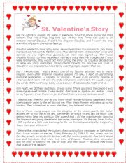 English Worksheets: Valentine´s Story