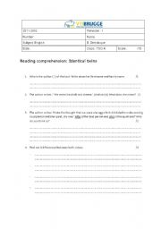 English Worksheets: Reading comprehension identical twins