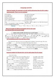 English Worksheets: language practice