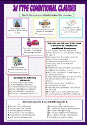 English Worksheets: 3d type of conditional clauses
