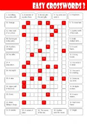 English Worksheet: Easy Crosswords 3