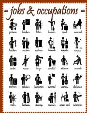 English Worksheet: jobs and occupations - pictionary