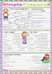English Worksheet: Simple Present (2)