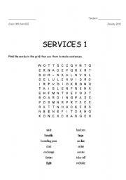 English worksheet: Servies