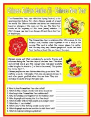 English Worksheet: Chinese Culture Series (1) - Chinese New Year