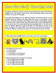 Chinese Culture Series (2) - Chinese Animal Zodiac