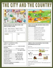 English Worksheet: THE CITY AND THE COUNTRY