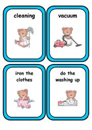 English Worksheets: Household Chores * Part 2