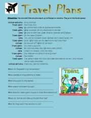 English Worksheet: Travel Plans (at a travel agency)