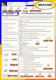 English Worksheet: weather-dialogue  (27.01.12)