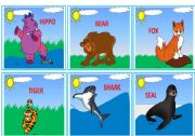 English Worksheets: --- WILD ANIMALS --- FLASHCARDS 2/3