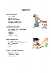 English Worksheets: Making suggestion