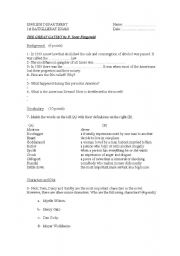 English Worksheets: The Great Gatsby Worksheet