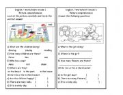 English Worksheets: picture comprehension part 2