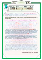 English Worksheets: This dirty world
