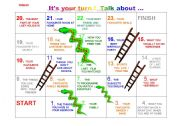English Worksheet: Snakes and ladders n� 5 ( for children )