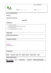 Lesson Plan Template, Kindergarten Daily Lesson Plan Template ...