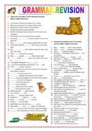 Grammar revision (B1)