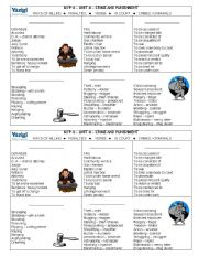 English Worksheets: Vocabulary Related to Crime