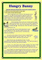 English Worksheets: Hungry Bunny
