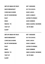 English Worksheets: actions in a day