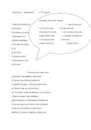 English Worksheets: Revision Worksheet