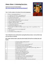 Home Alone 1. Listening exercises