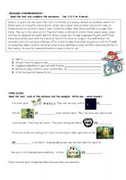 English Worksheet: Reading for Movers Exam